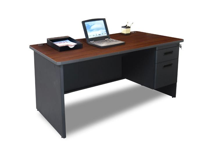 Buy Cheap 60 X 30 Single Pedestal Steel Desk By Marvel In 2020