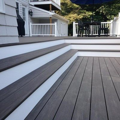 Decking Is The Gorgeous AZEK Vintage Collection In Dark Walnut