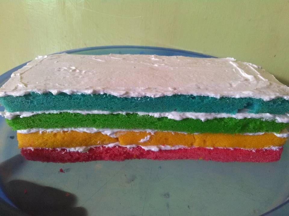 Resep Rainbow Cake Kukus Ny Liem Oleh Sasha Recipe Cake Cheesecake Cookies Recipes Rainbow Cake