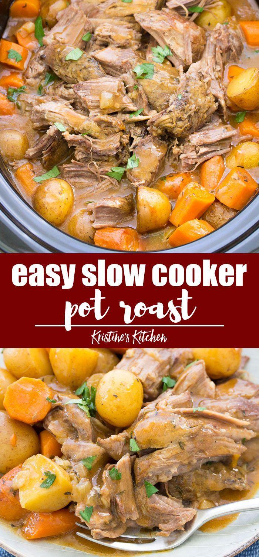 Slow Cooker Pot Roast Slow Cooker Pot Roast Recipes Pot Roast Slow Cooker Crockpot Recipes Easy