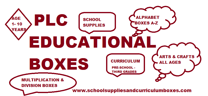 PLC School supplies and curriculum boxes
