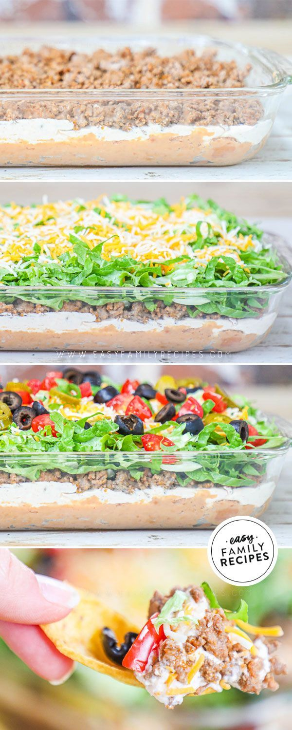 BEST EVER Loaded Taco Dip- Husband's FAVORITE!