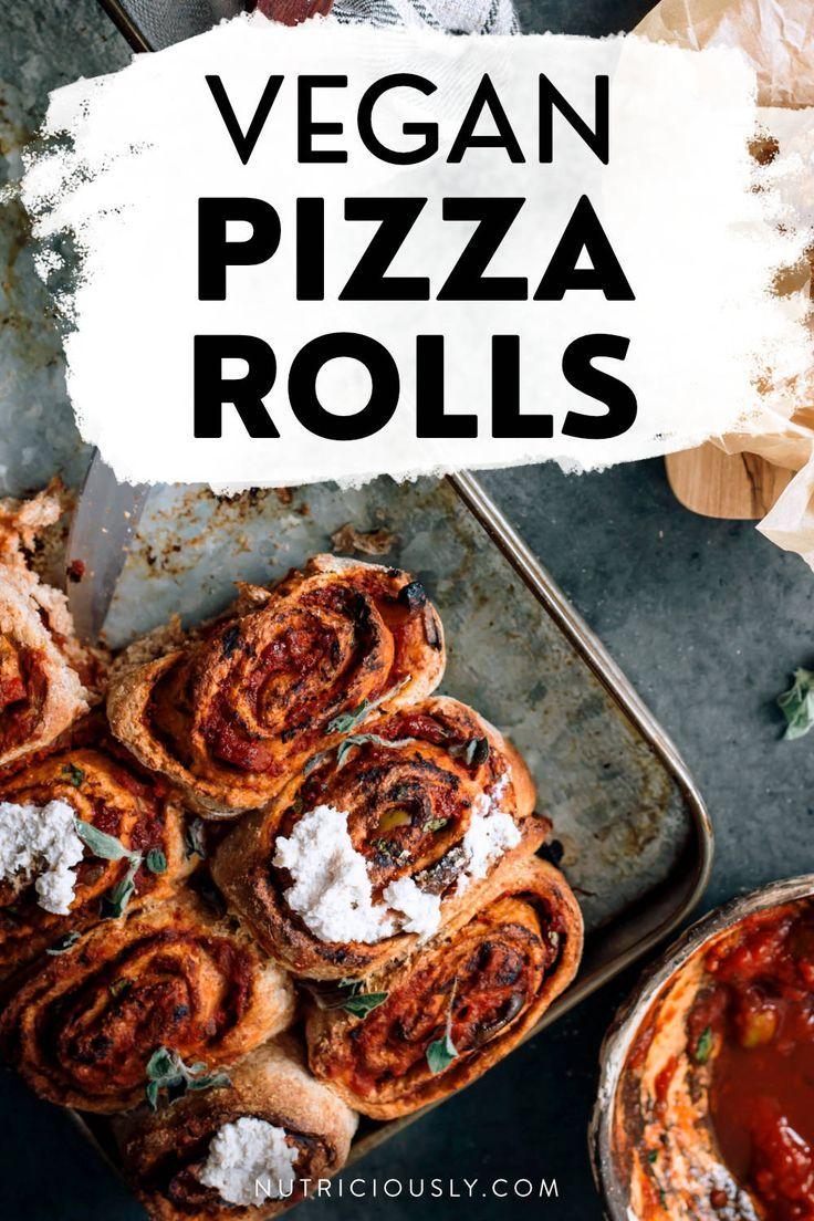 Healthy Vegan Pizza Rolls