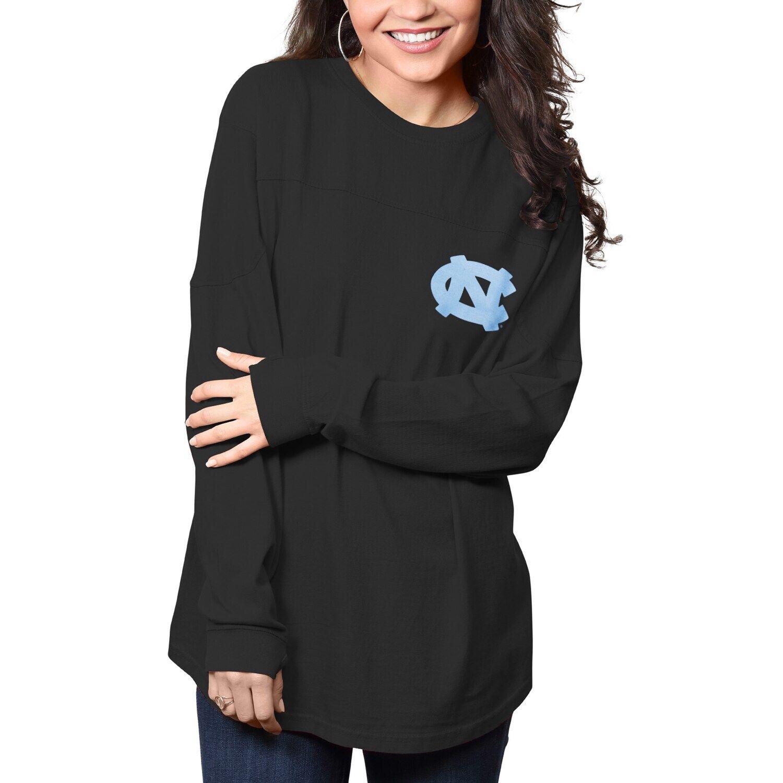 Women S Pressbox Black North Carolina Tar Heels The Big Shirt Oversized Long Sleeve T Shirt Big Shirt Pressbox Women