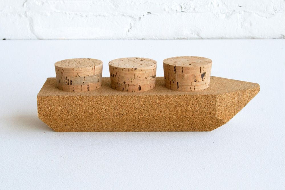 Contraband Toy Ships: Cork Cargo   Cork and Toy