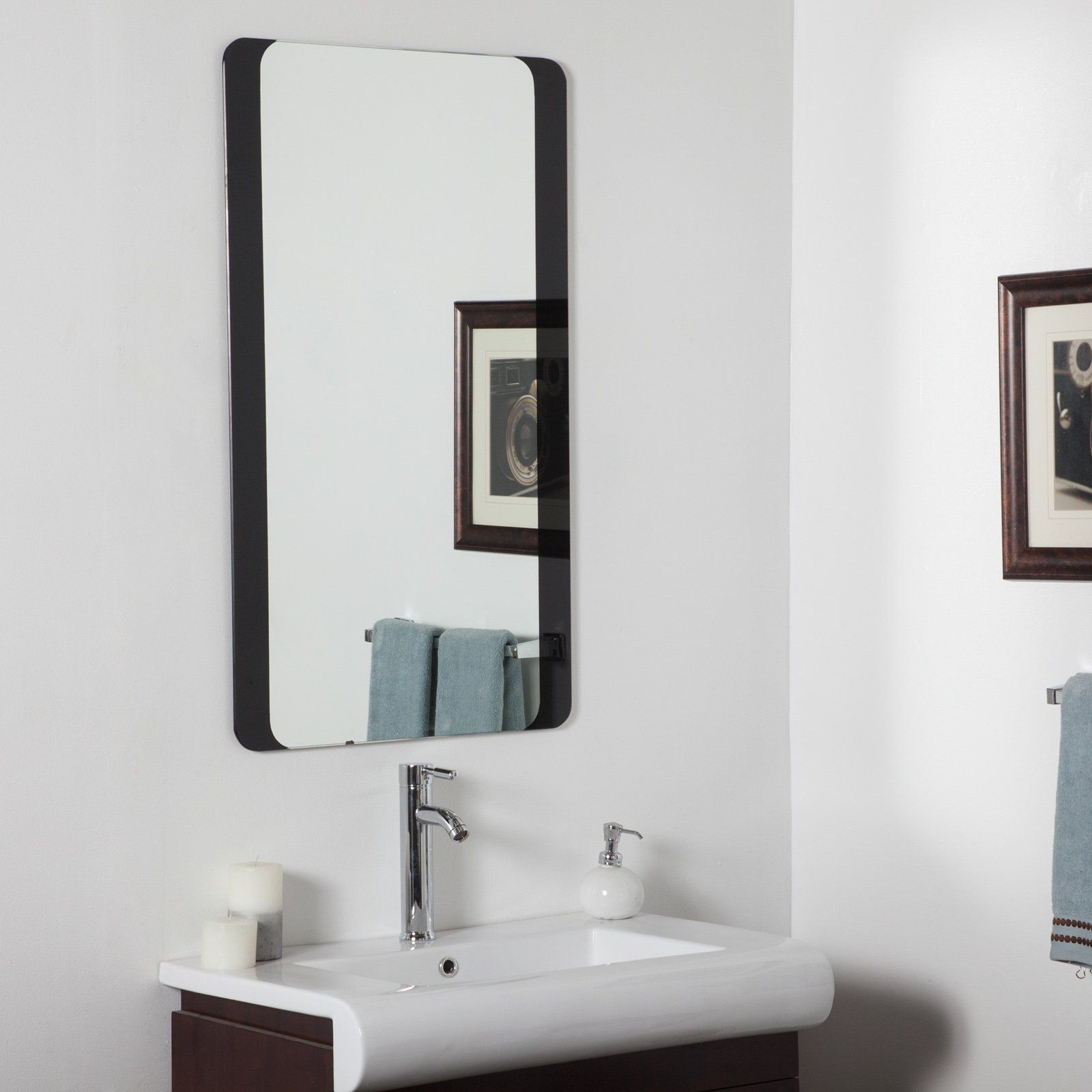 Décor Wonderland Large Bathroom Wall Mirror - 24W x 40H in. - The ...