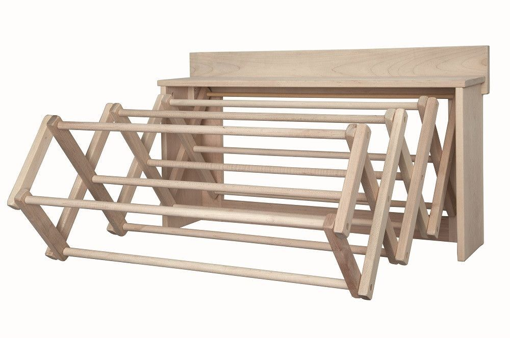 Large Drying Rack Wall Unit Amish Handmade Folding 30