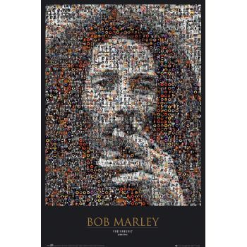 Poster: Bob Marley - mosaic
