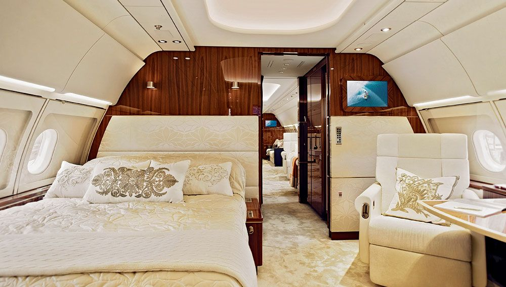 Robb Report Private Aviation Sourcebook High Style Private Jet Interior Luxury Private Jets Luxury Jets