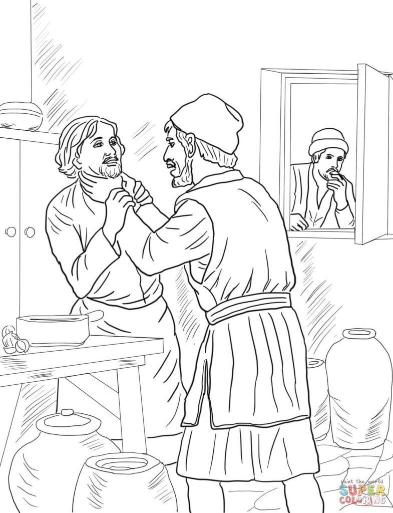 Unmerciful Servant Coloring Page Free Printable Coloring Pages