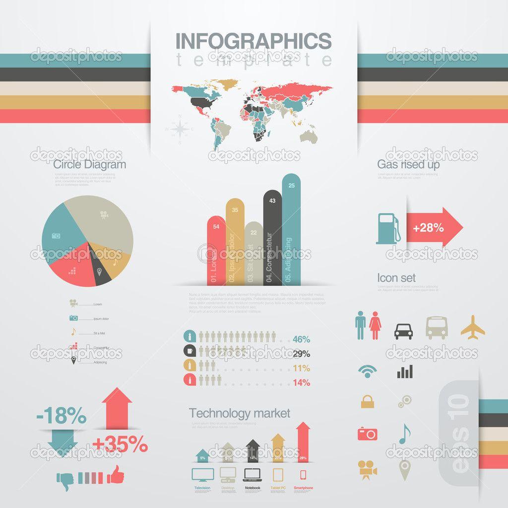 Infografiken Entwurfsvorlage \