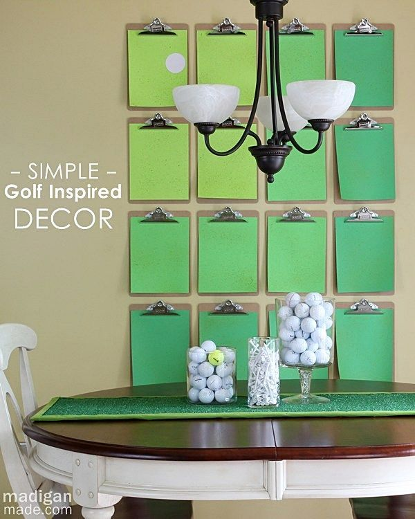 Simple golf course inspired wall and home decor ideas for Golf decoration ideas