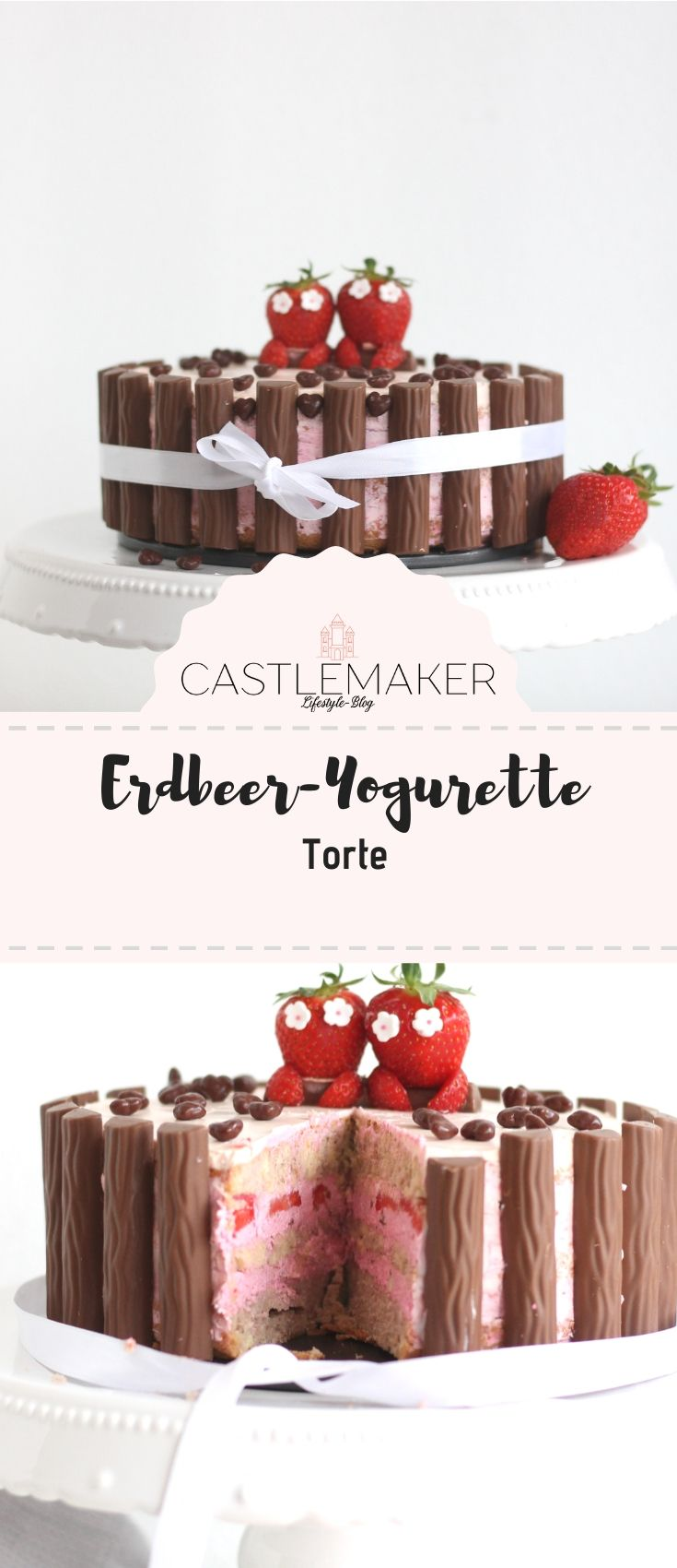 Yogurette-Torte mit Erdbeeren