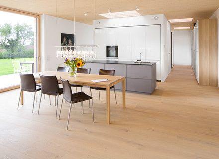 parkett naturholzboden in der k che mafi haus ideen. Black Bedroom Furniture Sets. Home Design Ideas