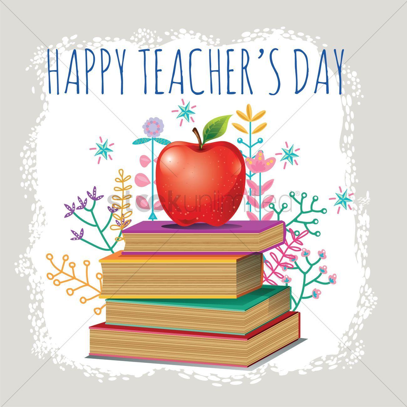 Happy Teacher S Day Design Vector Illustration Aff Day Teacher Happy Illustration Vector Affiliate Happy Teachers Day Teachers Day Vector Images