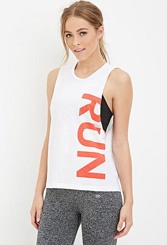 Run Graphic Muscle Tee   Forever 21 - 2000145223