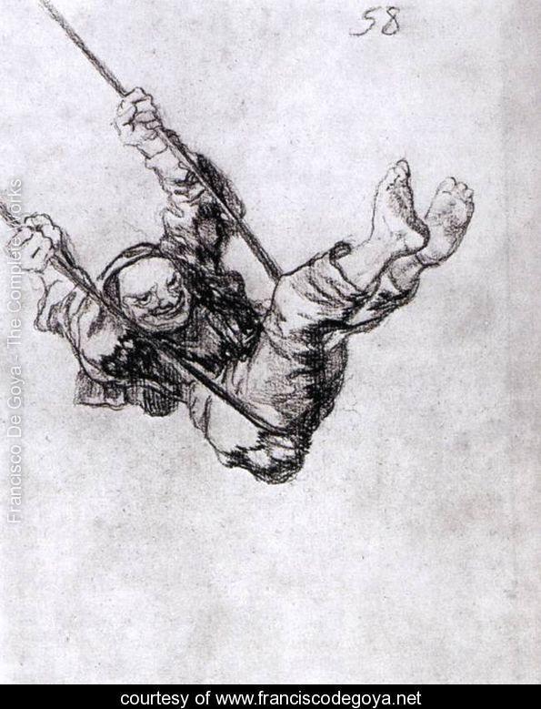 Old Man on a Swing - Francisco De Goya y Lucientes - www.franciscodegoya.net