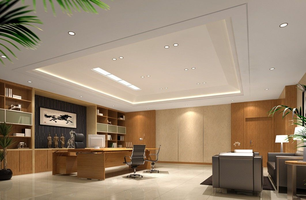 Modern ceo office interior designceo executive office with Office interior decorating ideas pictures