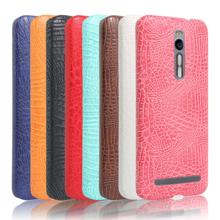 PU Leather Case For ASUS ZenFone 2 ZE 550ML ZE550ML Hard Protective Shell Back Cover Fashion Alligator Pattern Shock Proof New