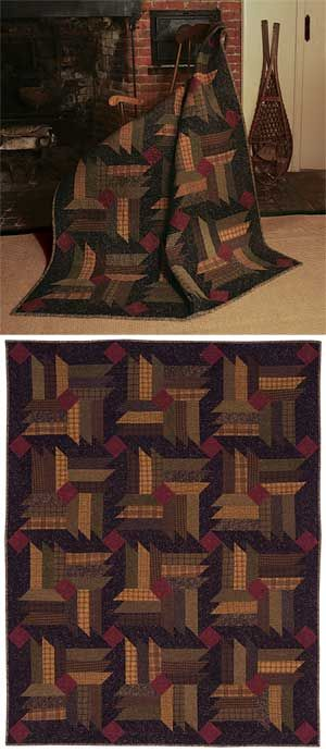 FIRESIDE QUILT PATTERN from Keepsake Quilting I've seen this