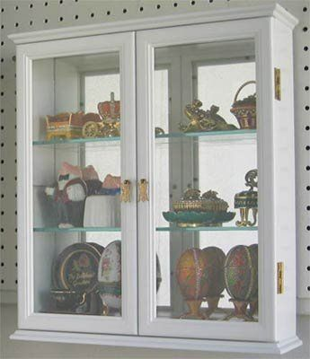 Wall Mounted Curio Cabinet / Wall Display Case With Glass Door, Solid Wood,  CD05C WH By DisplayGifts, Http://www.amazon.com/dp/B00ACQIPEU/refu003d ...