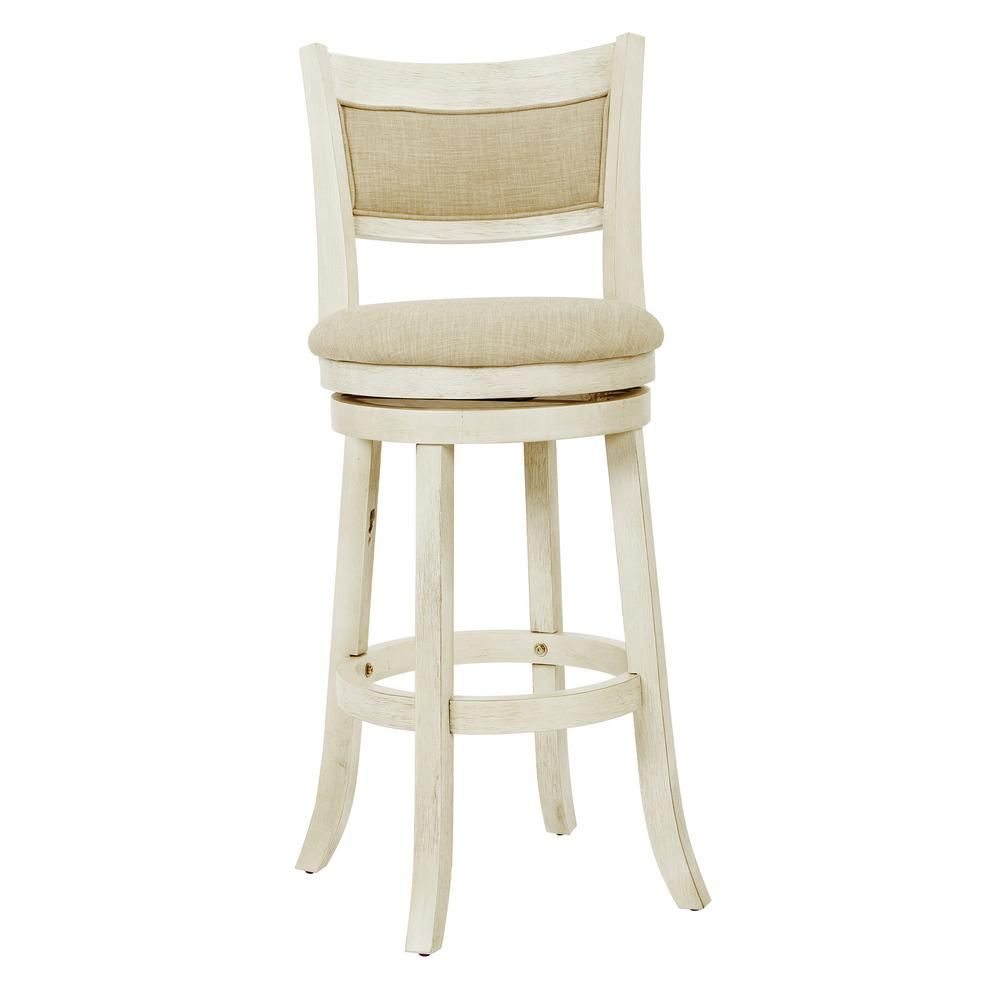 Cool Osp Home Furnishings Swivel 30 In Antique White Stool With Pdpeps Interior Chair Design Pdpepsorg