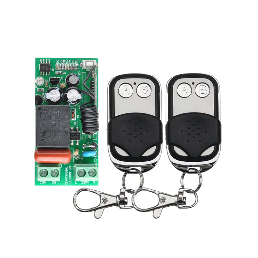 11.99$  Watch now - http://aliz09.shopchina.info/1/go.php?t=32770700423 - AC 220V 1CH 10A Wireless Remote Control Switch System 2 Button Remote Control for  Light LED Lighting  #buyininternet
