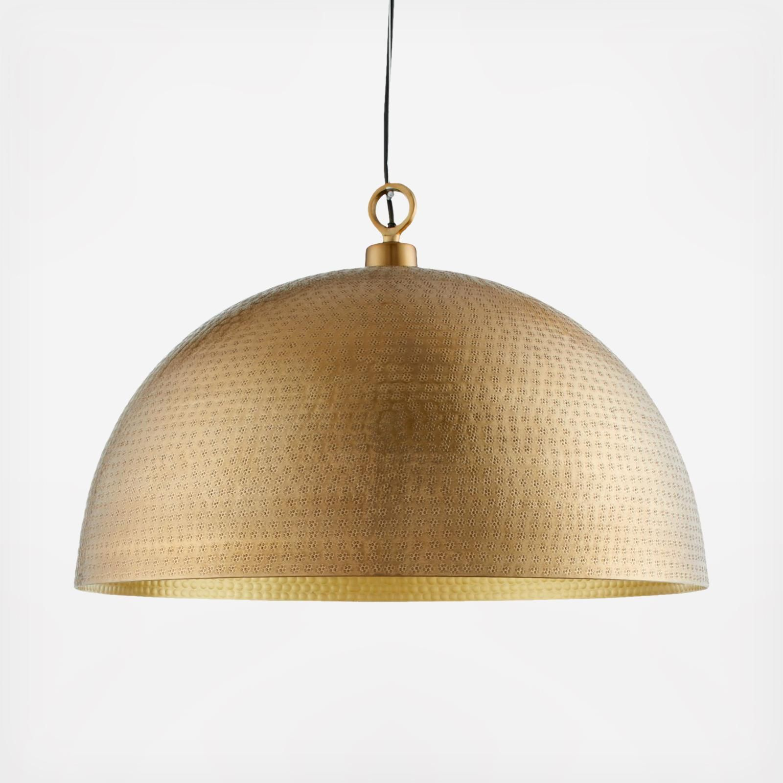 Crate And Barrel Rodan Hammered Metal Dome Pendant Light In 2021 Dome Pendant Lighting Brass Light Fixture Pendant Light