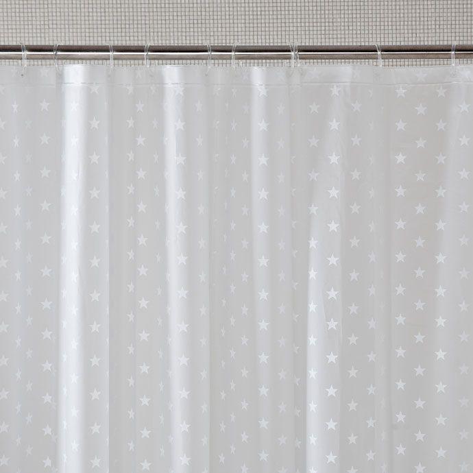 wunderschoene duschvorhaenge ideen, duschvorhang mit sternenmuster - bad - zara home basic | zara home, Design ideen