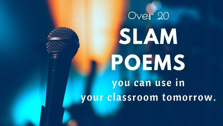 25 slam poems appropriate for middle school and high