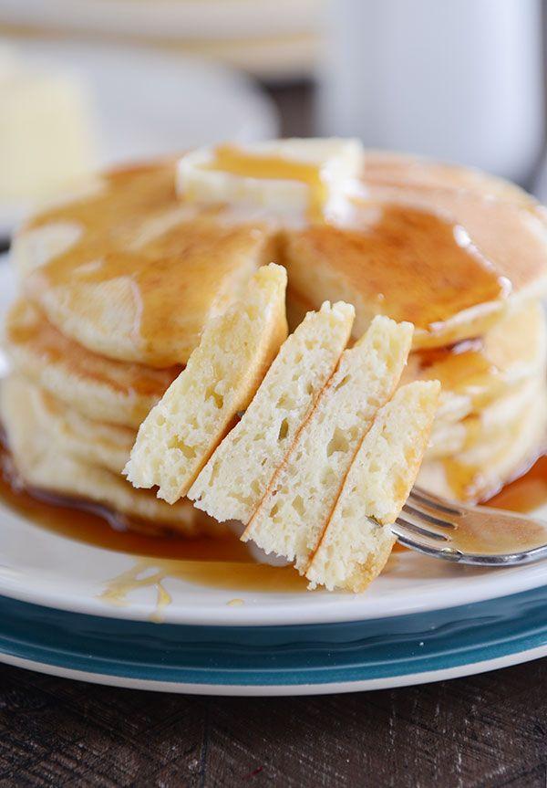 Fluffy Sour Cream Pancakes Recipe Mel S Kitchen Cafe Recipe Sour Cream Pancakes Sweet Cream Pancakes Recipe Homemade Sour Cream