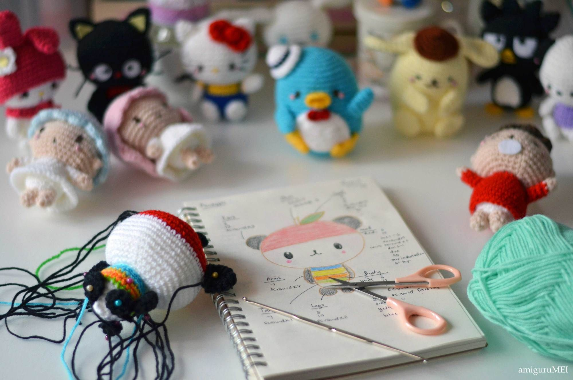 Amigurumi Crochet Books : Hello kitty crochet by mei li lee of amigurumei amigurumi