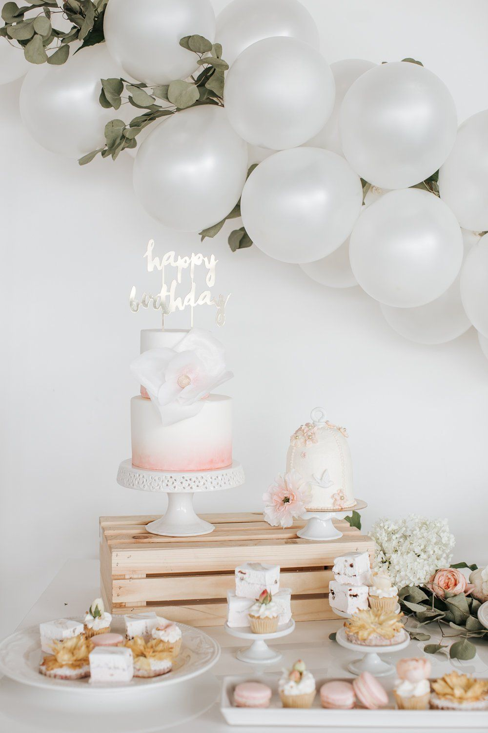 How To Make A Simple Balloon Garland Backdrop Floral Birthday