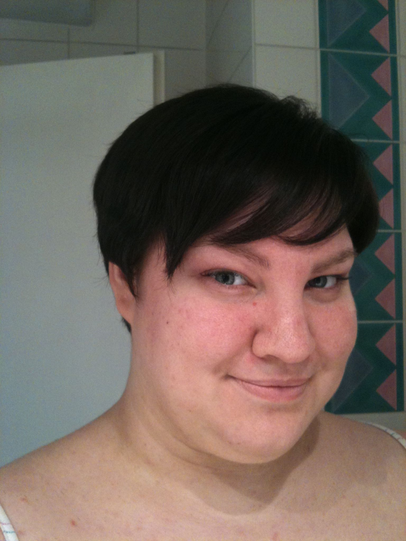 short haircuts for chubby girls | Mythbusting: Short hair CAN look cute on  big girls!