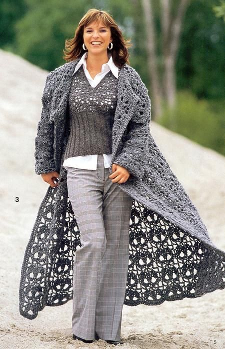 Crochet Coat Skull Motif Squares Oh Lordy I Wish I Could Read Mesmerizing Crochet Long Cardigan Pattern