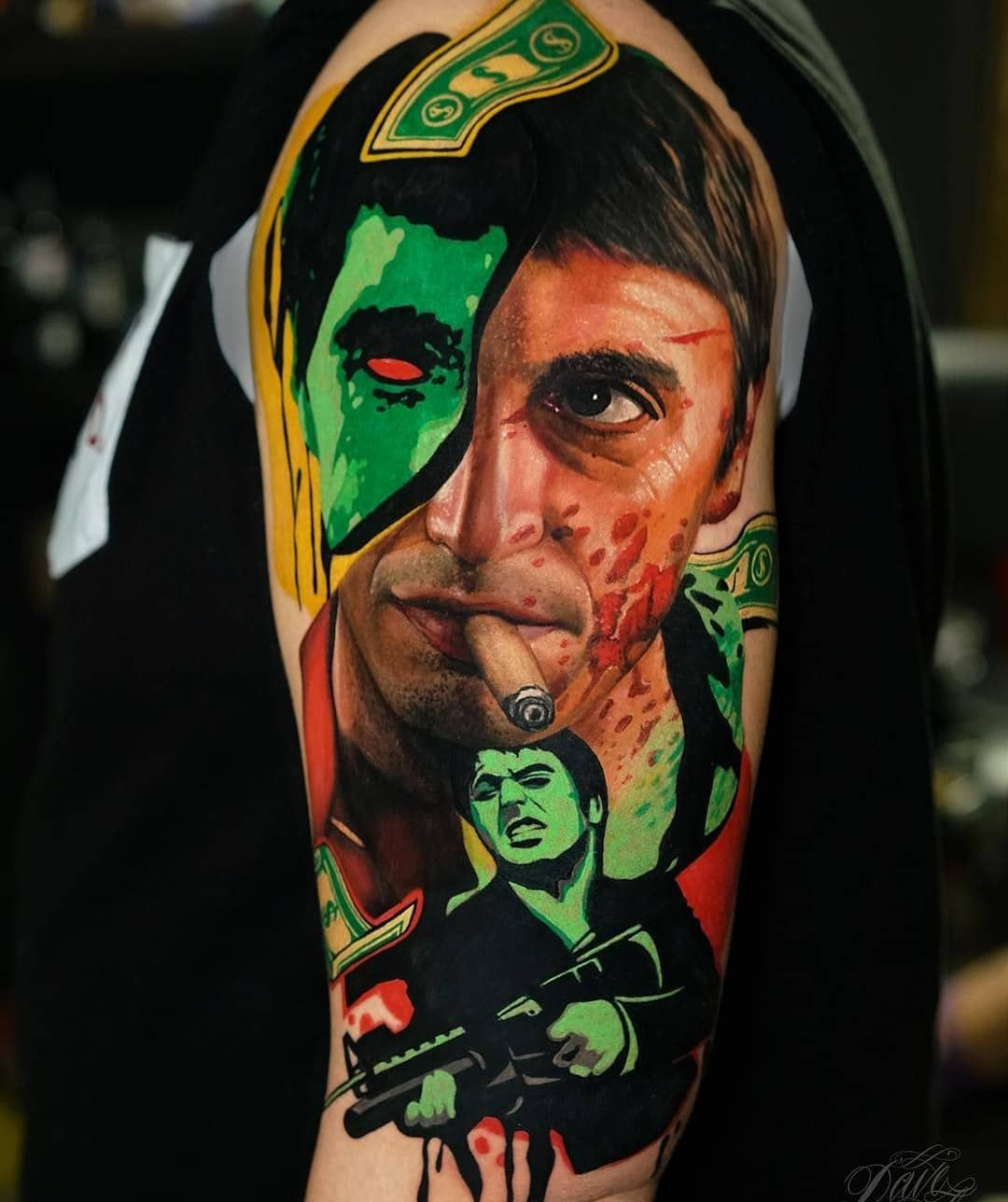 Beautiful Colored Sleeve Tattoo Sleeve Tattoos Pop Art Tattoos Portrait