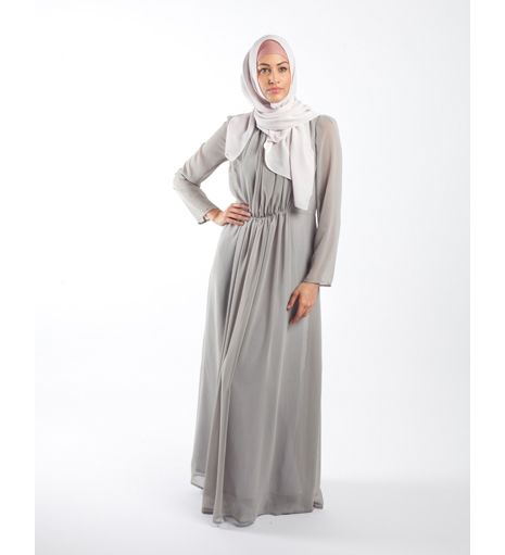 9a79c702b5c GREY PLEATED ABAYA