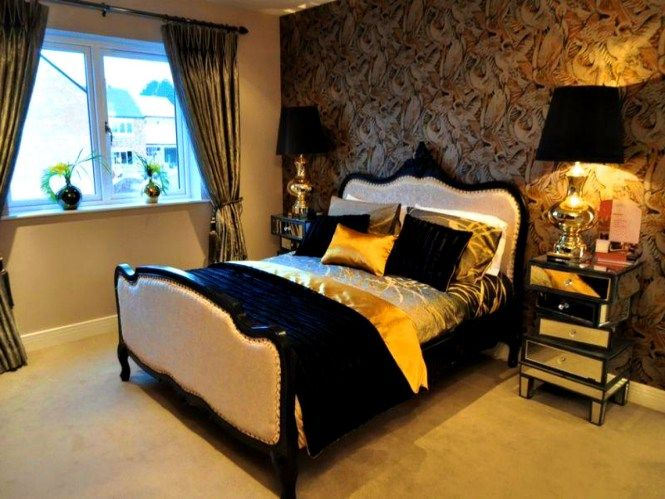 brown gold and cream bedroom ideas