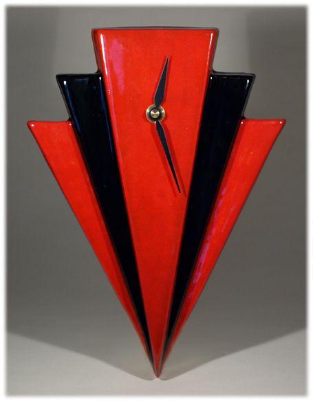 Design Inspiration Echo of Deco British Art Pottery Red Black