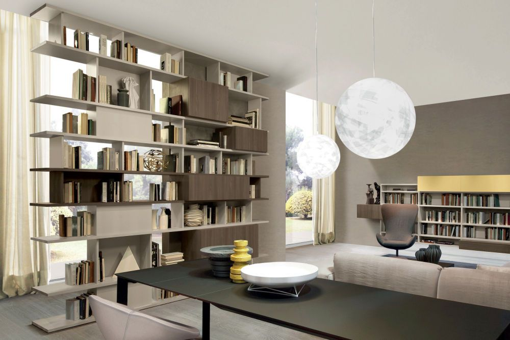 Double sided Domino bookcase by Zalf