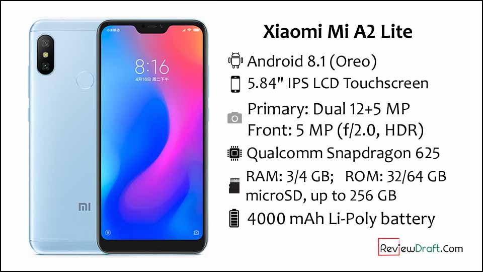 Xiaomi Mi A2 Lite Price In Bangladesh Full Specification Review Draft Xiaomi Premium Smartphone Phone