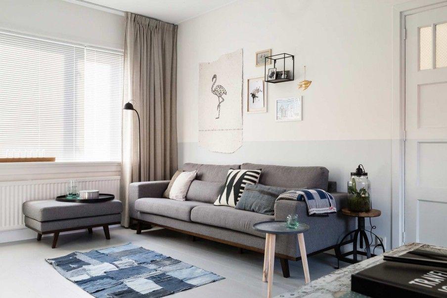 Woonkamer Grijze Bank : Uitstekende huisdecoratie voortreffelijk vloerkleed bij grijze bank