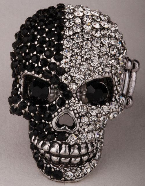 Skull With Jaw Dropped: Skull Stretch Ring Moving Jaw Halloween Jewelry