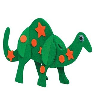 Fun Felt Dinosaurs by Creativity for Kids - Build and decorate 3