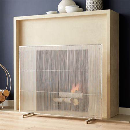 Antiqued Brass Fireplace Screen Reviews Crate And