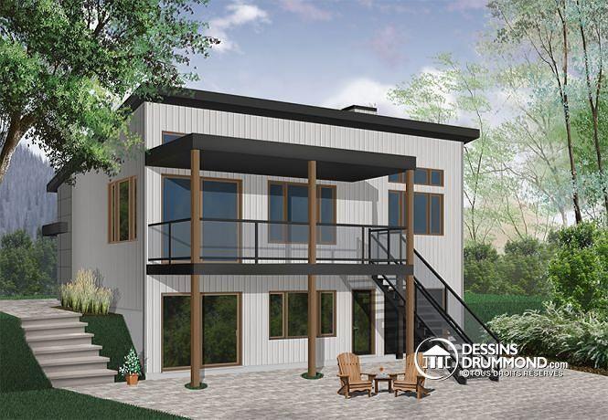 Plan de maison no W3991 de dessinsdrummond Idées Chalet MDS