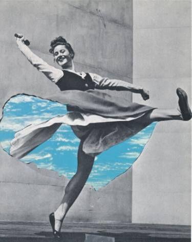 Original Surrealism Paper Collage For Sale Dance Art Collage Art Art