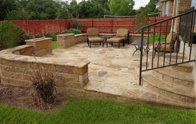 Backyard Patio Greenscapes Landscaping Atx Patio Backyard Patio Paved Patio