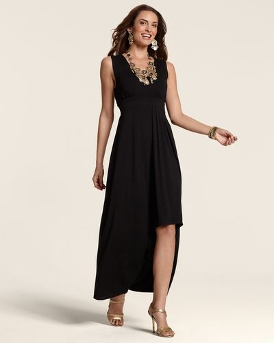 Chicos Womens Black Riley Dress In Black Essentials From Chicos On