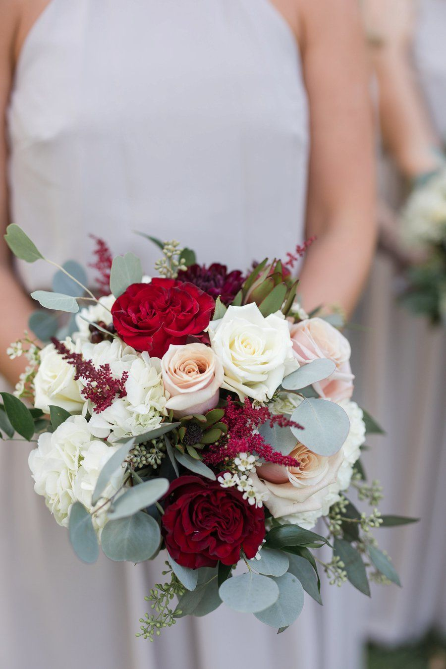 A Red Green White Rustic Elegance Pennsylvania Wedding Every Last Detail Red Rose Wedding Red Bouquet Wedding White Bridal Bouquet [ 1350 x 900 Pixel ]